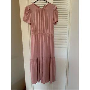 Bohme rose color midi dress